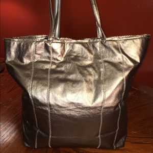 Mycra Pac Vegan Leather Metallic Tote Bag
